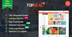 Download Topdeal - Advanced & Multipurpose OpenCart 2.3 Theme Nulled Latest Version
