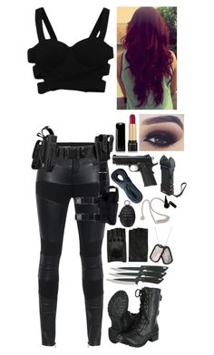 A fashion look from September 2015 featuring TIGHA pants, Soda boots and AGNELLE gloves. Browse and shop related looks. Emo Outfits, Teen Fashion Outfits, Girl Outfits, Womens Fashion, Zombie Apocalypse Outfit, Apocalypse Fashion, Spy Outfit, Badass Outfit, Hunter Outfit