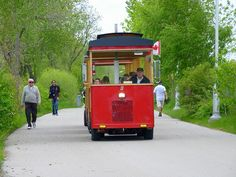 Trolley at the Waterfront...The Trolley runs from Spring (Victoria Day Weekend) till Fall(Canadian Thanksgiving Weekend).