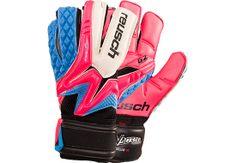 Reusch Waorani Deluxe G2 Goalkeeper Gloves - Pink and Ocean Blue   Soccer Master