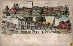 Widokówki z Chorzowa, Chorzów - 1905 rok, stare zdjęcia