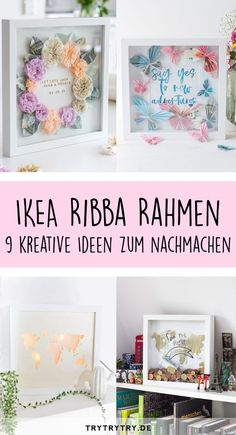 9 hacks and DIY's with a Ribba frame! DIY gift, money gift, DIY hacks and DIY's with a Ribba frame! DIY gift, money gift, DIY decorationDIY decoration ideas to bring spring home with youDIY Diy Hanging Shelves, Floating Shelves Diy, Diy Home Decor Projects, Diy Projects To Try, Marco Ikea, Pot Mason Diy, Mason Jars, Diy Y Manualidades, Wine Bottle Crafts