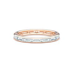 Rose Gold Baguette Diamond Eternity Band | JM Edwards Jewelry