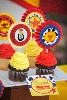 Jessie / Toy Story  Cupcake Toppers  Woody Party by KROWNKREATIONS, $3.00