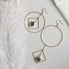 #AdoreWe DressLily Jewelry - Dresslily - Rhinestone Asymmetric Circle Geometric Chain Earrings - AdoreWe.com