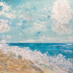 Original oil painting Glory at the Beach 24x24 by EmmalouiseBell