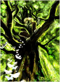Ghillie Dhu by Dan Goodfellow - art inspired from mythology and legends of his Celtic homeland.