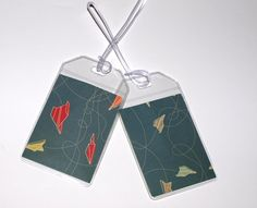 Wedding Favors - adorable idea-  usable travel luggage tags ...