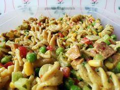 Vegan: Nudelsalat mit Mandel-Mayonnaise