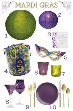 HOW TO: Throw a Mardi Gras Party {with style} #HowTo #DIY