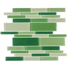 Supreme Glass Tiles Multi Mosaic - Green Summer