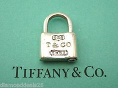 Tiffany & Co. Authentic 1837 Padlock Charm Sterling Silver