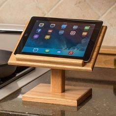Amish-made solid oak cookbook holder is a plus for any kitchen. Woodworking Software, Woodworking Projects Diy, Popular Woodworking, Woodworking Furniture, Diy Furniture, Woodworking Store, Woodworking Plans, Woodworking Jointer, Japanese Woodworking