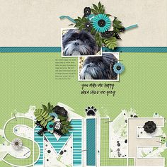 Layout of the Day for September 17, 2016 created with A Dog's Life by Word Art World