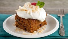 Gluten-Free Carrot Cake with Whipped Coconut Topping - In the Kitchen with Stefano Faita