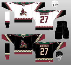 Phoenix Coyotes - The (unofficial) NHL Uniform Database Coyotes Hockey, Phoenix Coyotes, Arizona Coyotes, Nhl, Sports, Hs Sports, Sport