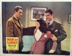 Richard Derr, Marjorie Weaver and George Reeves, Man at Large (1941)