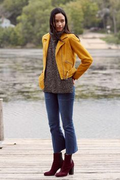 Cropped Flare Transitioning the cropped flare is all in the boot. Choose a mid-calf block heel with a fitted shaft to balance the flare's width, throw on a suede jacket over a sweater vest, and watch the cropped flare become fit for fall.