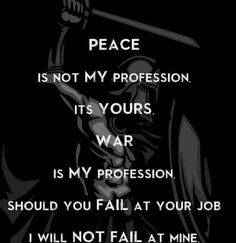 War and peace..
