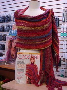 Tunisian crochet wrap -this is so pretty!