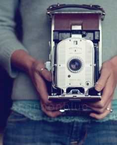vintage polaroid camera photograph / hands by shannonpix on Etsy, $28.00