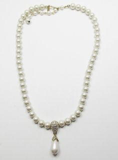 Vintage 1960s Signed Napier Single Strand Pearl by GildedTrifles