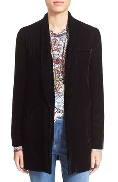 Free People Slouchy Velvet Blazer available at #Nordstrom