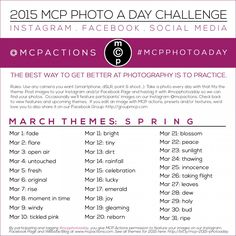 MCP Photo A Day Challenge: March 2015 Themes » MCP Actions