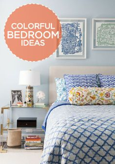 Check out this gorgeous inspiration on how to add bright colors to your bedroom.