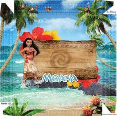 Moana: Cajas para Imprimir Gratis.   Ideas y material gratis para fiestas y celebraciones Oh My Fiesta!