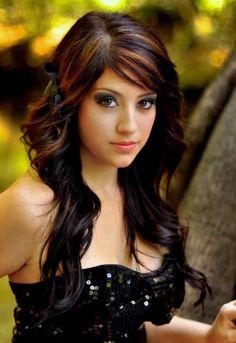Hair Color for Brown Eyes and Fair Skin | Image related to Dark brown hair fair skin blue eyes