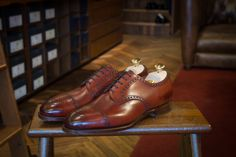 "doublemonk: "" Made to Order. The Cardiff in Bauxite calf on the 202 last by Edward Green. """