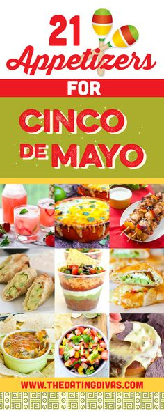 Appetizers are the best part of a fiesta! Cinco de Mayo is going to be HOT this year! www.TheDatingDivas.com