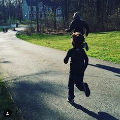 """#TBT to the time when my son Kullen asked """"Dad can you run?""""...I responded with """"Kullen you've seen me run"""". He then said """"no like REALLY run!?"""" That's when I proceeded to demolish him in a 50 yard race.  I think he got the point!  #extremedad #throwbackthursday #tbt"""