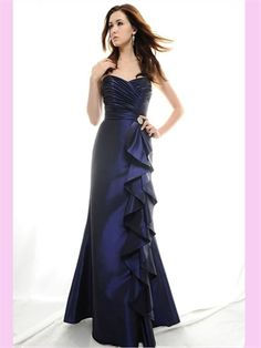 A Line Sweetheart Satin Bridesmaid Dress