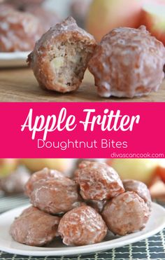 Easy, homemade apple fritter doughnut bites with a simple glaze. Moist, fluffy and full of apple cinnamon flavor. Addictive, from scratch apple fritters. Apple Fritter Recipes, Donut Recipes, Cooking Recipes, Apple Fritter Doughnut Recipe, Apple Fritter Cake, Baked Apple Fritters, Easy Apple Fritters Recipe, Apple Doughnut, Doughnut Muffins