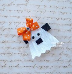 Gina the little Ghost Clip-- Perfect for Halloween--. $3.50 USD, via Etsy.
