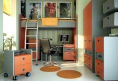 Jugendzimmer gestalten – 100 faszinierende Ideen - jugendzimmer gestalten dekoideen schrank bedienungstisch stockbett
