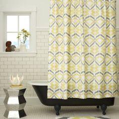Brock's bath?   Tali Printed Shower Curtain | west elm