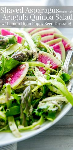 A filling lemony and beautiful salad packed with texture and sunshine! Salad Recipes For Parties, Healthy Salad Recipes, Vegetarian Recipes, Vegetarian Salad, Dinner Recipes, Appetizer Recipes, Easy Recipes, Fancy Salads, Marinated Pork Chops