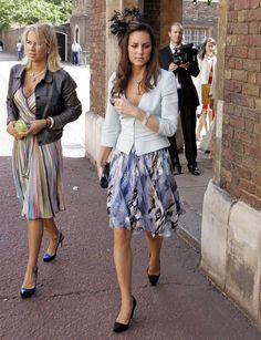 Pin for Later: Pippa Middleton's Floral Dress Is a Throwback to Kate's Prewedding Style  Under a blazer for Lady Rose Windsor's wedding in 2008.