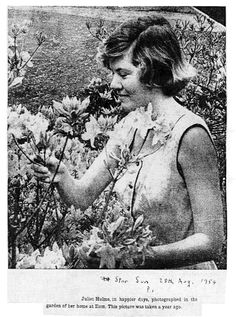 The real Juliet Hulme in the garden at Ilam, Christchurch New Zealand, early 50's.