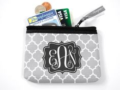 New to TheMonogramLine on Etsy: Monogrammed Coin Purse | Monogram Coin Pouch | Small Zipper Pouch | Coin Bag (12.00 USD)