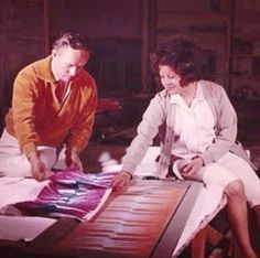 Cherokee fashion designer Lloyd Kiva New was making and printing his own fabrics as early as the 1950s. He collaborated with many talented artists, and he shared his knowledge with others. I think we need to continue his legacy and keep pushing Native fashion forward. (Image: Kay V. Wiest Collection. IAIA Archives. ca. 1965)
