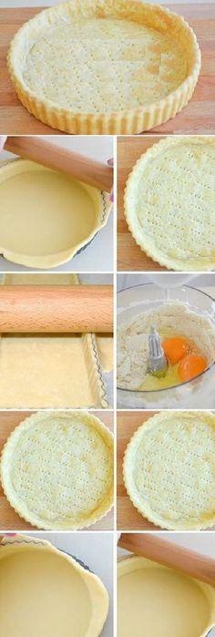 Masa quebrada básica para tartas dulces o saladas.