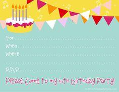 Birthday party invitations free birthday birthday invitations boys