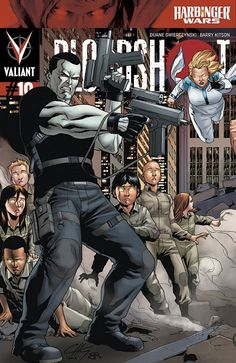 Bloodshot #10 pullbox cover by Clayton Henry $4