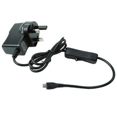 UK Standard 5V 2.5A Power Supply With Power Switch Charger For Raspberry Pi