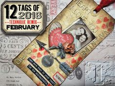 Tim Holtz: 12 tags REMIX- February