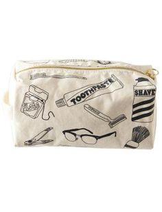 $49 Maptote - White Dopp Kit